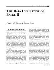 THE DATA CHALLENGE BASEL II