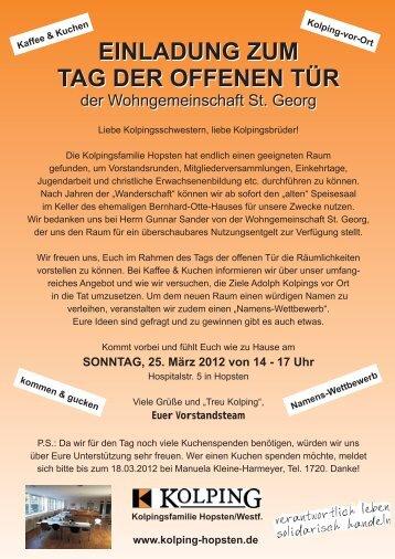 Herzliche Einladung zum Tag der offenen Tür 25. + 26 ... - Gleis 1