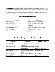 Double Entry Journal Template