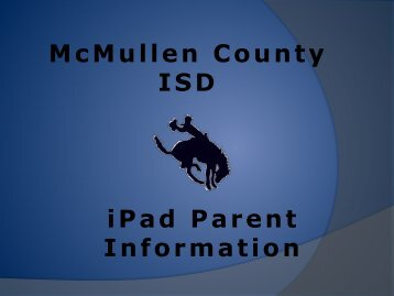 McMullen County ISD iPad Parent Information