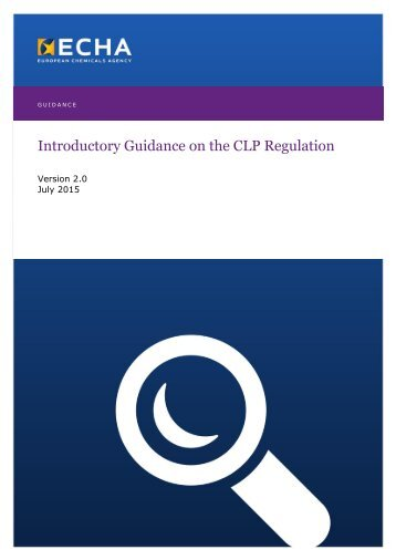Introductory Guidance on the CLP Regulation