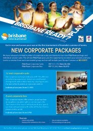 NEW CORPORATE PACKAGES