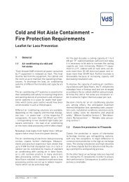 Cold and Hot Aisle Containment – Fire Protection Requirements - VdS