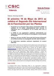 Valencia, 17 de agosto de 2010 - Delegación del CSIC en la ...