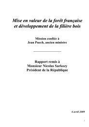 Mise en valeur de la forêt française et développement de la filière bois