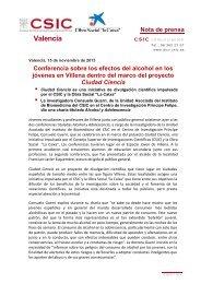 Leer Noticia - CSIC - Consejo Superior de Investigaciones Científicas