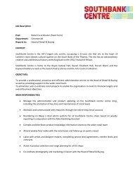 Job Description Post: Retail Co-ordinator (Fixed ... - Southbank Centre