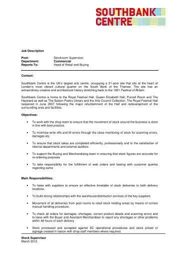 warehouse stocker job description sample warehouse manager - Warehouse Stocker Job Description