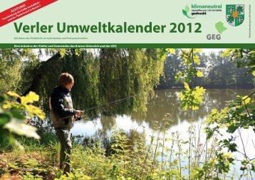 Verler Umweltkalender 2012 - Stadt Verl