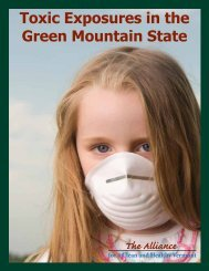 Toxic Exposures in the Green Mountain State - Good Chemistry