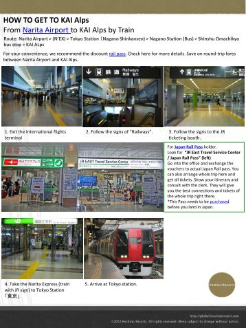 HOW TO GET TO KAI Alps From Narita Airport to KAI Alps by Train