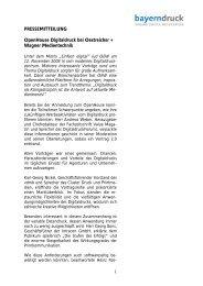 PRESSEMITTEILUNG OpenHouse Digitaldruck bei ... - VDMB