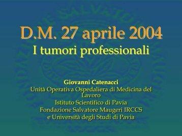D.M 27 aprile 2004