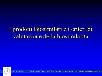 valutazione della biosimilarità