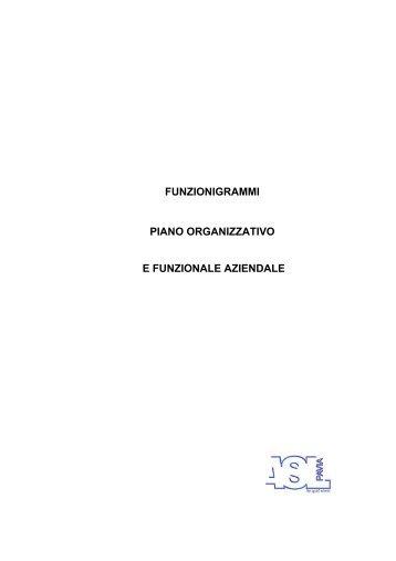 PIANO ORGANIZZATIVO E FUNZIONALE AZIENDALE