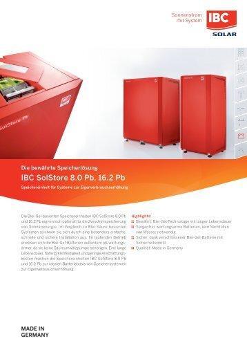 IBC SolStore 8.0Pb,16.2Pb