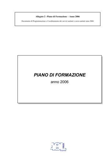 PIANO DI FORMAZIONE 2004 – 2005 - ASL Pavia