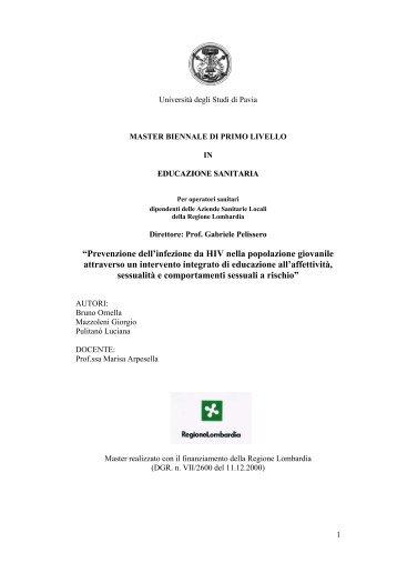 SCHEDA TECNICA DI PROGETTO - ASL Pavia
