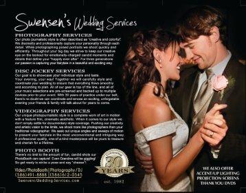 Download Our Wedding Services Brochure - Swensen Video