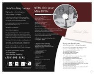 Download Our Wedding Packages Brochure - Swensen Video