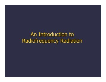 An Introduction to Radiofrequency Radiation