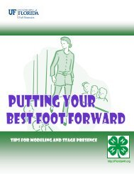 Tips for Modeling and Stage Presence - Florida 4-H