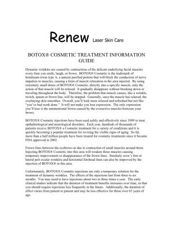 Botox® Cosmetic Care & Consent Form - Sawmas Dermatology