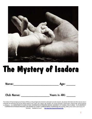Mystery of Isadora - Lake County Extension - University of Florida