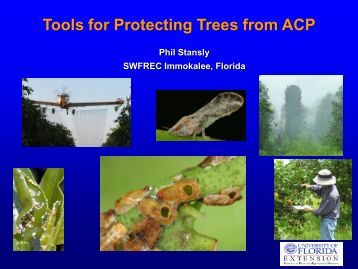 Tools for Protecting Trees from ACP