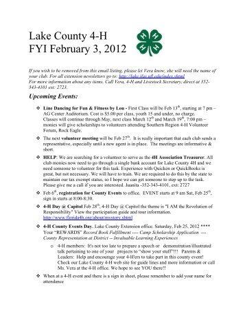 FYI February 3 2012