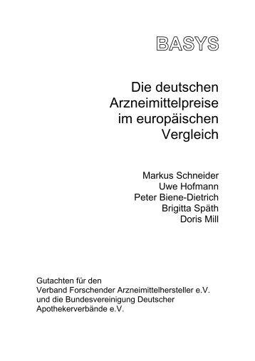 Die deutschen Arzneimittelpreise im europäischen Vergleich - VfA