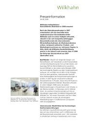 Presseinformation - Wilkhahn