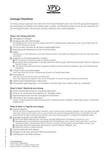 pdf umzug checkliste. Black Bedroom Furniture Sets. Home Design Ideas