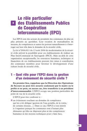 EPCI - Institut des risques majeurs