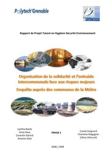 Rapport de Projet Tutoré en Hygiène Sécurité Environnement