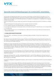 Spezielle Geschäftsbedingungen für entbündelte ... - VTX Telecom