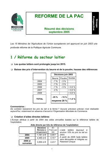 Lemaire didier issf tar - Chambre d agriculture poitou charentes ...