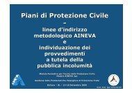 Le linee di indirizzo metodologico Aineva e individuazione dei ...