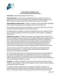 Travel & Expense Reimbursement - Maine Society for Respiratory ...
