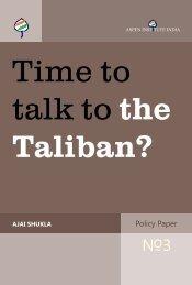 talk to the Taliban?