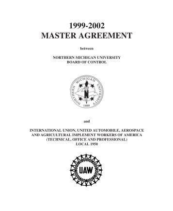 1999-2002 MASTER AGREEMENT