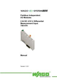Fieldbus Independent I/O  Modules 2 AI DC ±10 V, Differential - Wago