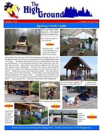 Spring Work Week trailhead replaced completed