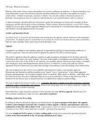AP Lang—Rhetorical Analysis Rhetoric is the study of how writers ...