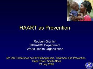 HAART as prevention - World Health Organization