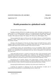 Resolution adopted on health promotion - World Health Organization
