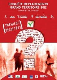 ENQUÊTE DEPLACEMENTS GRAND TERRITOIRE 2012