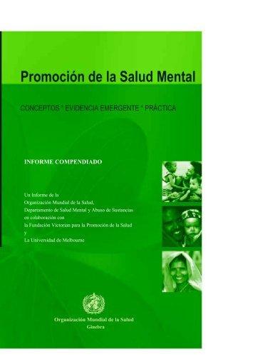 Promoción de la Salud Mental