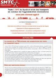 la lettre d'info du SMTC n°2