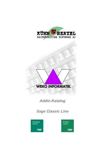 Addin-Katalog Sage Classic Line - WEKO INFORMATIK GmbH